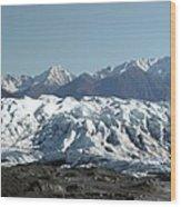 Glacial Terminus Wood Print