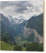 Glacial Valley Wood Print