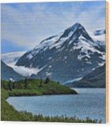 Glacier Alaska Lake  Wood Print