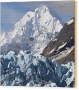 Glacier Bay Alaska Photograph Wood Print