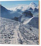 Glacier Blanche  Wood Print