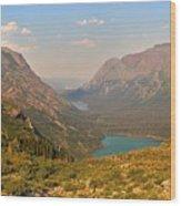 Glacier Chain Of Lakes Wood Print