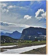 Glacier Country Park Wood Print