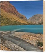 Glacier Cracker Lake Wood Print