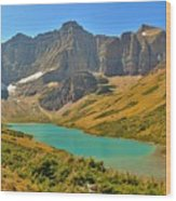 Glacier Cracker Lake Panorama Wood Print