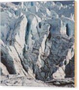 Glacier Detail Wood Print