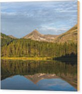 Glacier - Fishercap - Reflection Wood Print