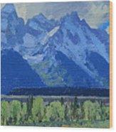 Glacier Gulch Wood Print