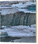 Glacier Iceberg Panorama Wood Print
