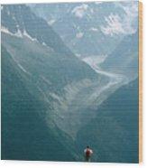 Glacier In Chamonix Wood Print