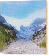 A Glacier In Mt. Rainier Wood Print
