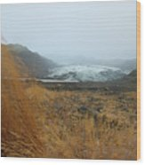 Glacier In The Distance Wood Print