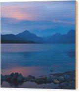 Glacier - Lake Mcdonald Dawn Wood Print