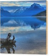 Glacier Mountain Reflections Wood Print