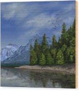 Glacier Naional Park Wood Print