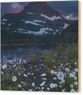 Glacier National Park At Dawn Wood Print