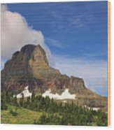 Glacier National Park At Logan Pass Wood Print