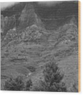 Glacier National Park Montana Vertical Wood Print