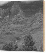 Glacier National Park Montana Vertical Wood Print