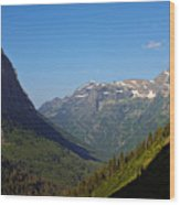 Glacier National Park Mt - View From Going To The Sun Road Wood Print