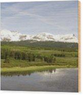 Glacier National Park Scenic Wood Print