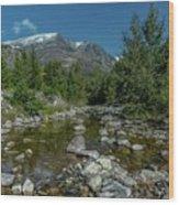 Glacier National Park-st Mary's River Wood Print