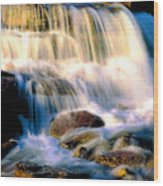 Glacier National Park Waterfall Wood Print