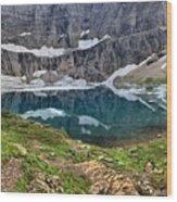 Glacier Paradise Wood Print