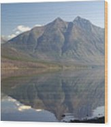 Glacier Reflection1 Wood Print