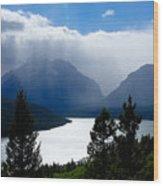 Glacier Showers Wood Print