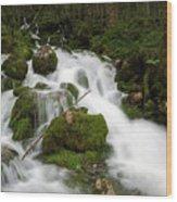Glacier Sources Wood Print