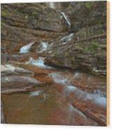 Glacier Virginia Falls Cascades Wood Print