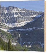 Glacier Waterfall Wood Print by Richard Steinberger
