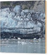 Glacier With Kayakers Wood Print