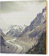 Glacierway Wood Print