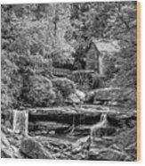 Glade Creek Grist Mill 3 - Paint 2 Bw Wood Print