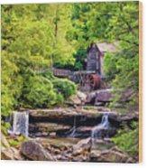 Glade Creek Grist Mill 3 - Paint Wood Print
