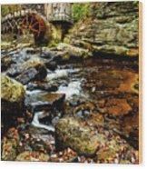 Glade Creek Grist Mill Fall  Wood Print