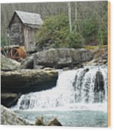 Glade Creek Grist Mill In Color Wood Print