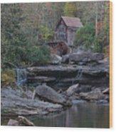 Glade Creek Grist Mill Wood Print