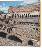 Gladiators And Christians Wood Print