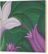 Gladiolus Carneus Wood Print