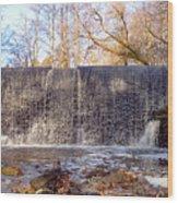 Gladwyne - Dove Lake Waterfall Panorama Wood Print