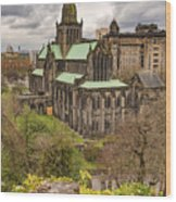 Glasgow Cathedral From The Necropolis Wood Print