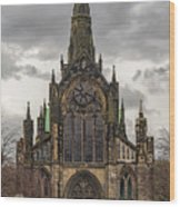 Glasgow Cathedral Front Entrance Wood Print
