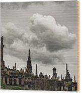 Glasgow Necropolis Graveyard Wood Print