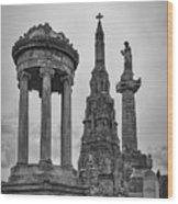Glasgow Necropolis Graveyard Memorials Wood Print