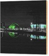 Glasgow Riverside Wood Print