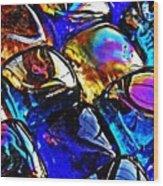 Glass Abstract 11 Wood Print
