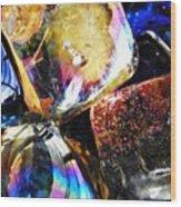 Glass Abstract 114 Wood Print